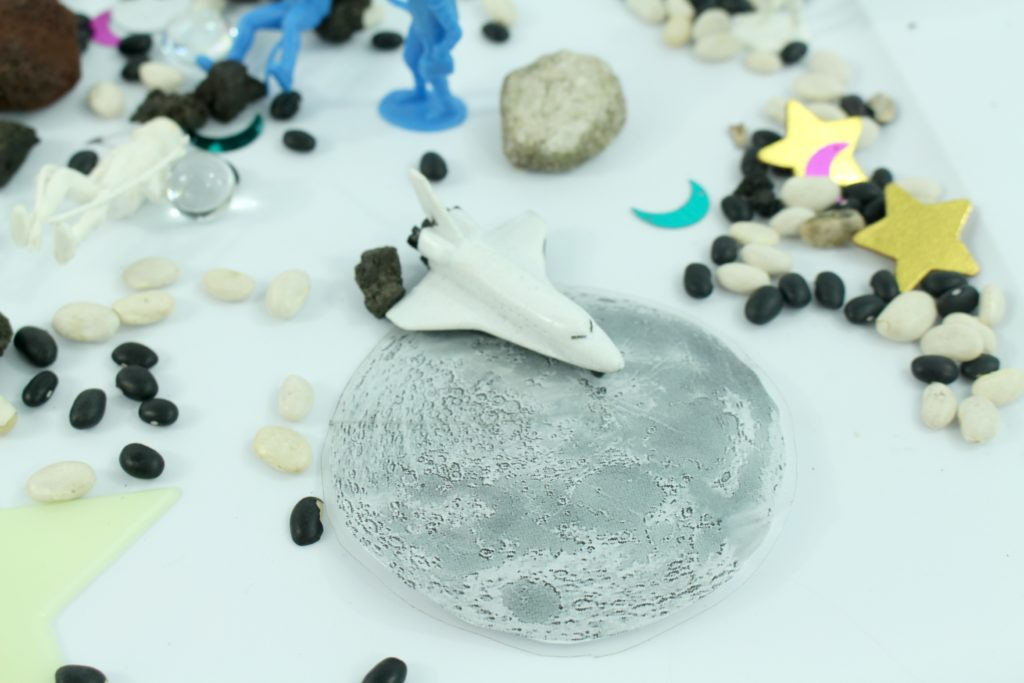 DIY Make an outer space sensory bin - jenny at dapperhouse