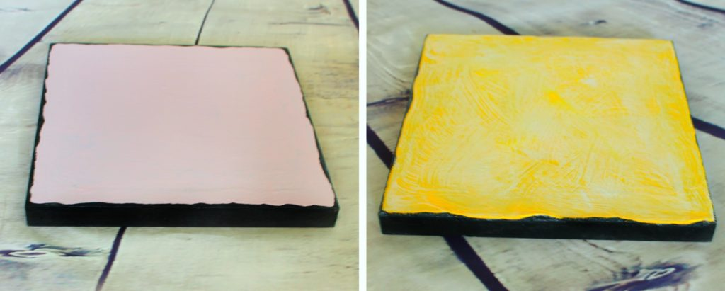 How to Make DIY Pink, Yellow & Gold Wall Art