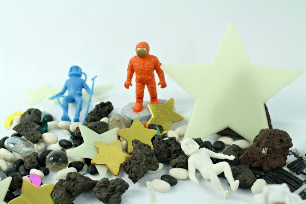Outer Space Sensory Bin DIY - jenny at dapperhouse