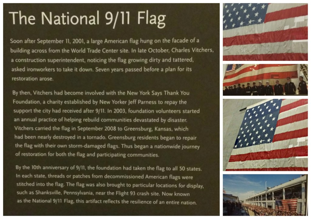 The National 911 Flag from the memorial museum - jenny at dapperhouse