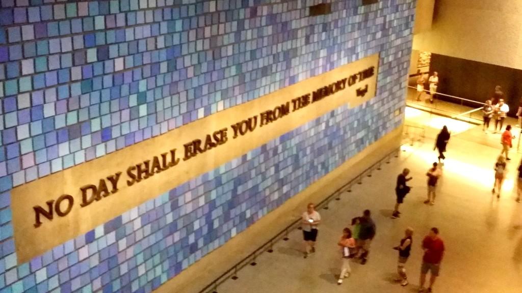 memorial wall in 911 Museum - jenny at dapperhouse
