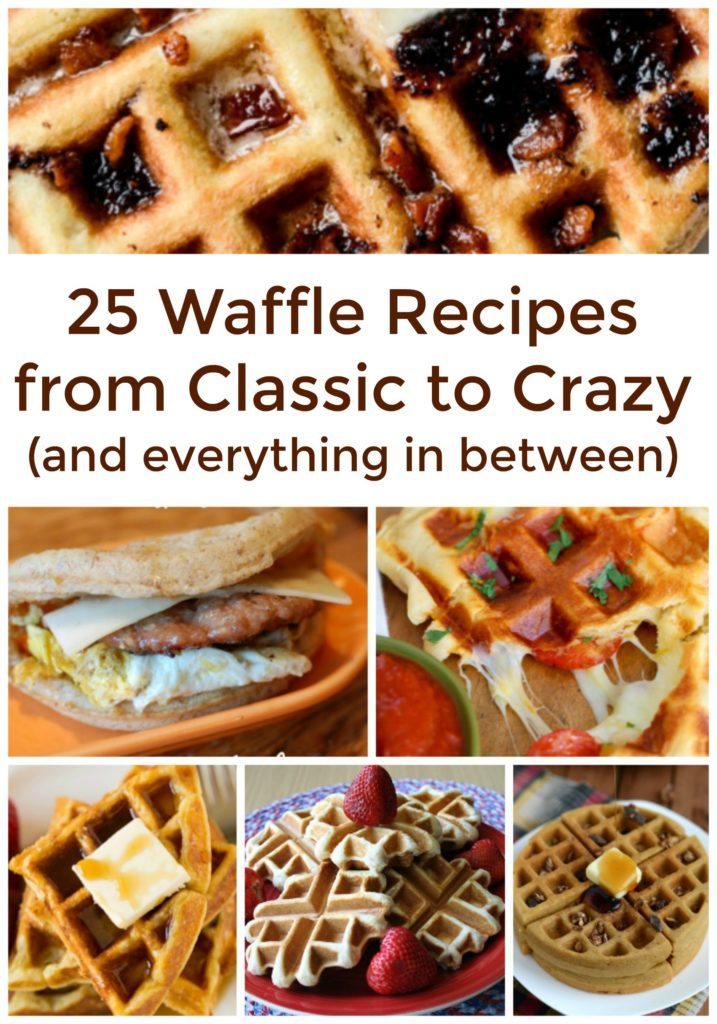 25 Totally Tempting Waffle Iron Recipes - Bjenny at dapperhouse #waffles #recipe