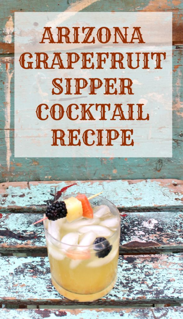 Arizona Grapefruit Sipper Cocktail Recipe - jenny at dapperhouse #rum