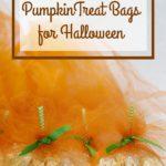 DIY Fancy Tulle Pumpkin Treat Bags for Halloween