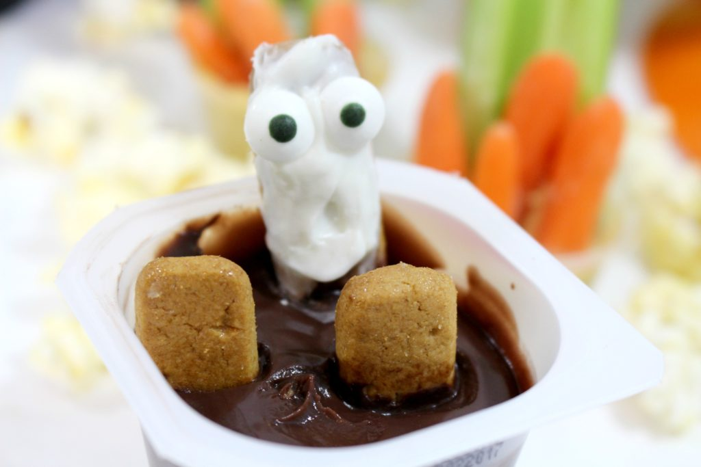 Ghost in the Graveyard pudding cups treats - jenny at dapperhouse blog