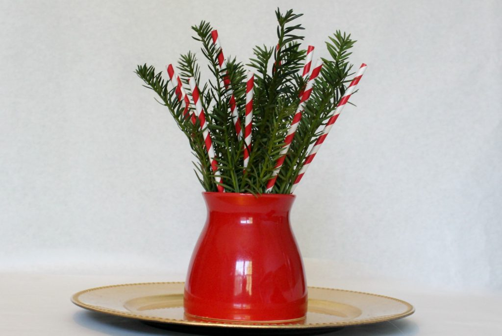 How to make this cute, last minute centerpiece for Christmas - jenny at dapperhouse blog