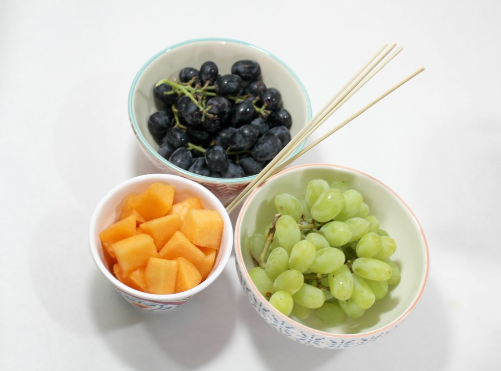 Ingredients for Halloween fruit skewers - jenny at dapperhouse - healthy treats