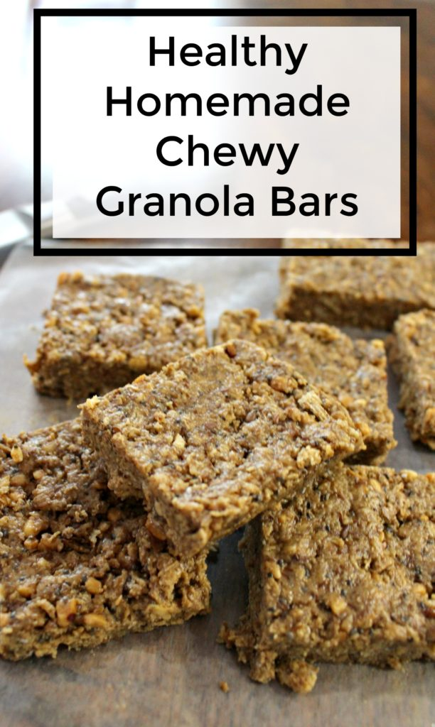 healthy homade chewy granola bar recipe - jenny at dapperhouse - flaxseed - chia seeds