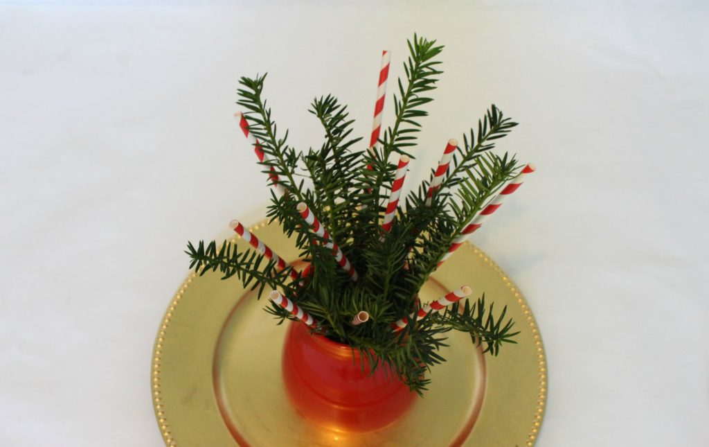 how to make an easy and cute last minute holiday Christmas centerpiece - jenny at dapperhouse blog