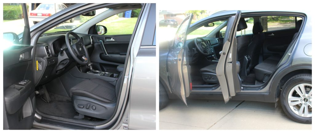 lots of leg room and open space in the KIA sportage LX 2017 - jenny at dapperhouse