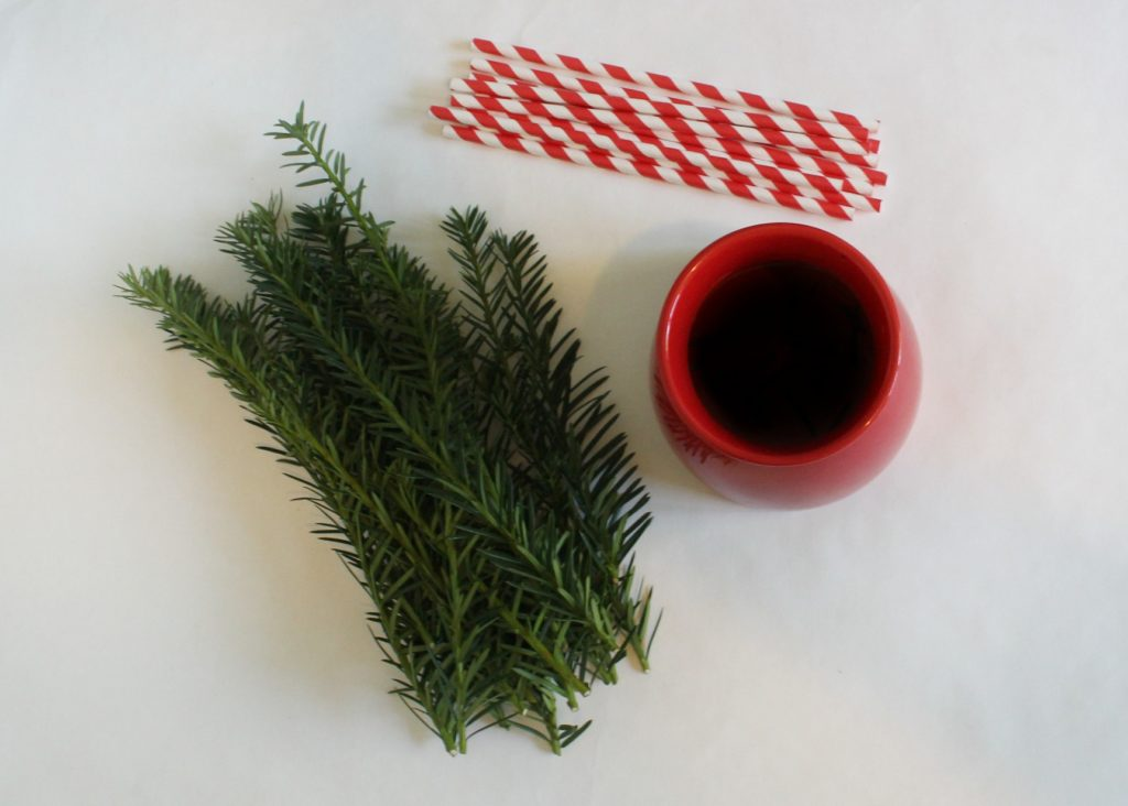 supplies for easy last minute holiday centerpiece - jenny at ddapperhouse blog