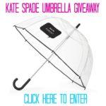 Kate Spade Rain Check Umbrella Giveaway