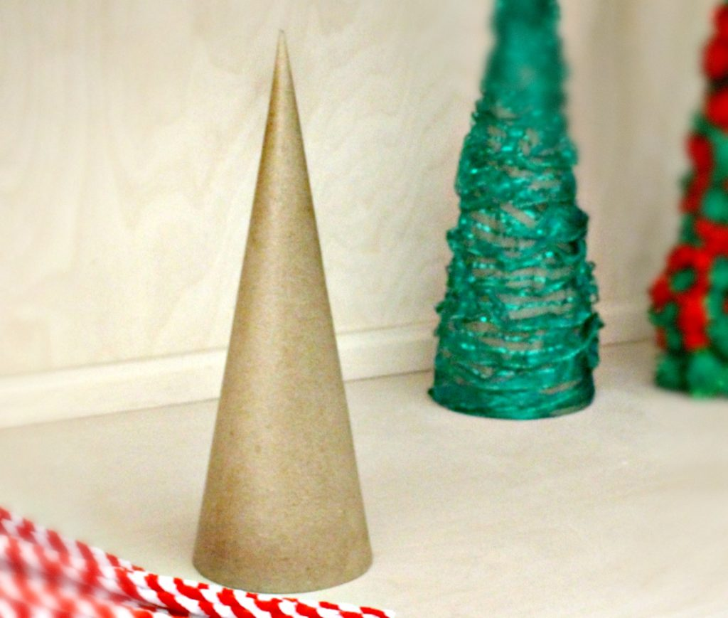 Diy Cardboard Cones Christmas Tree Home Decor