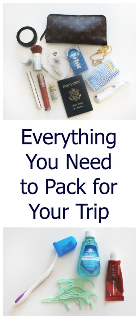 Everything you need to pack for your trip besides clothes for Things you need in a house