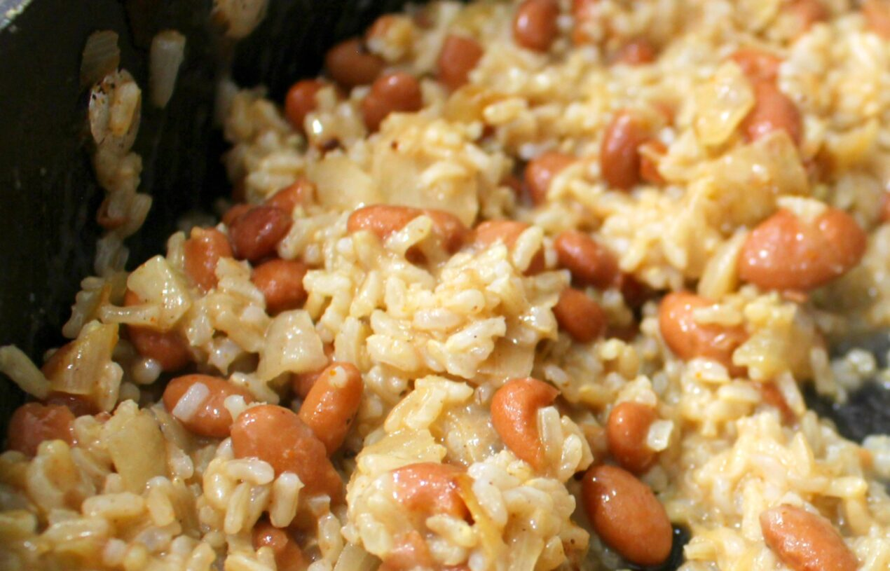 Spicy Vegetarian Beans & Rice Recipe