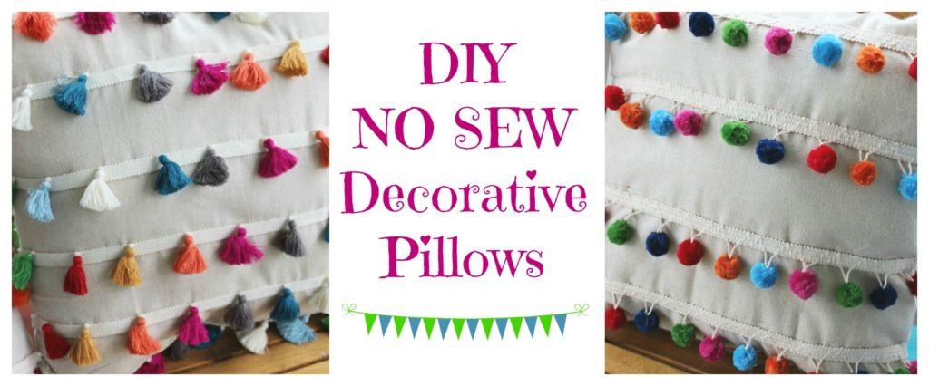 Diy No Sew Decorative Pillows