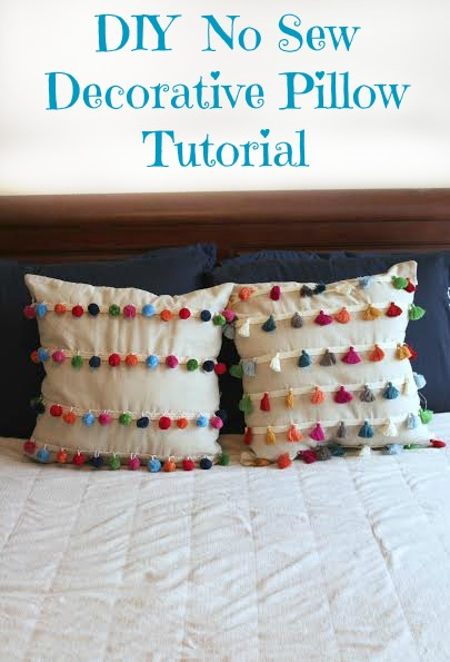 DIY No Sew Tassel And Pom Pom Decorative Pillows Fascinating No Sew Decorative Pillows