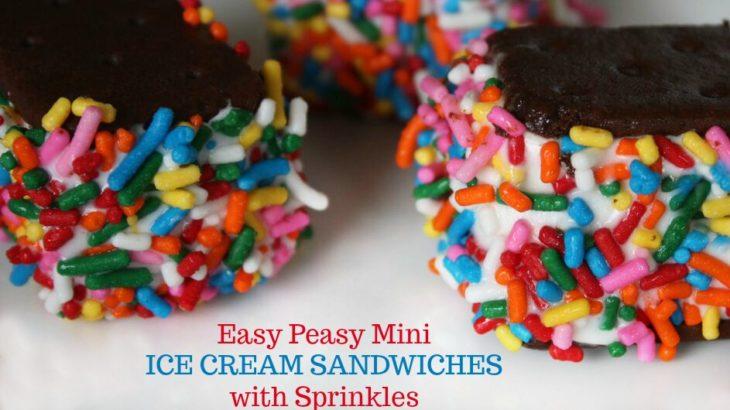 Easy Peasy Mini Ice Cream Sandwiches with Sprinkles (Kid's ...