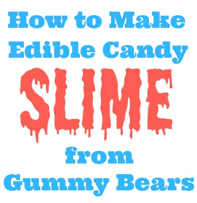 How to make edible candy slime from gummy bears ccuart Images