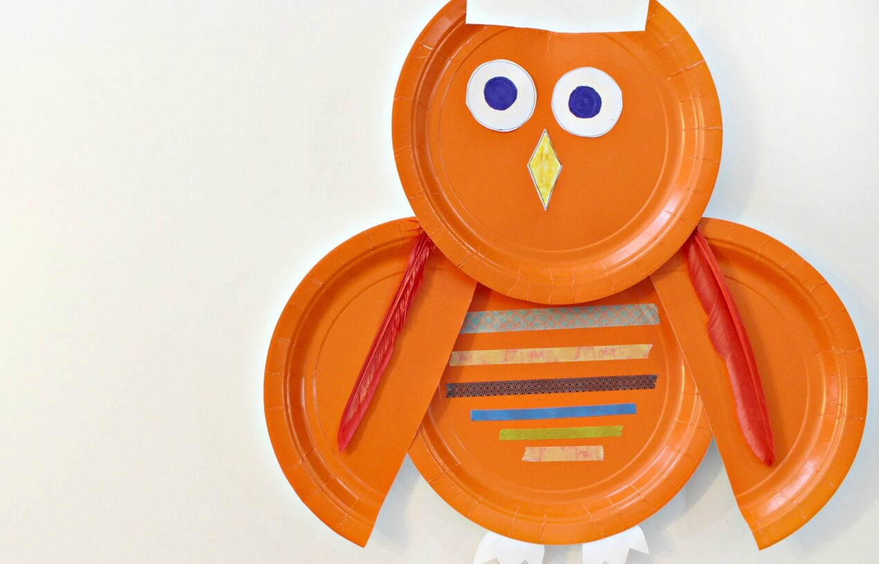 Easy to Make Paper Plate Owl Craft for Fall