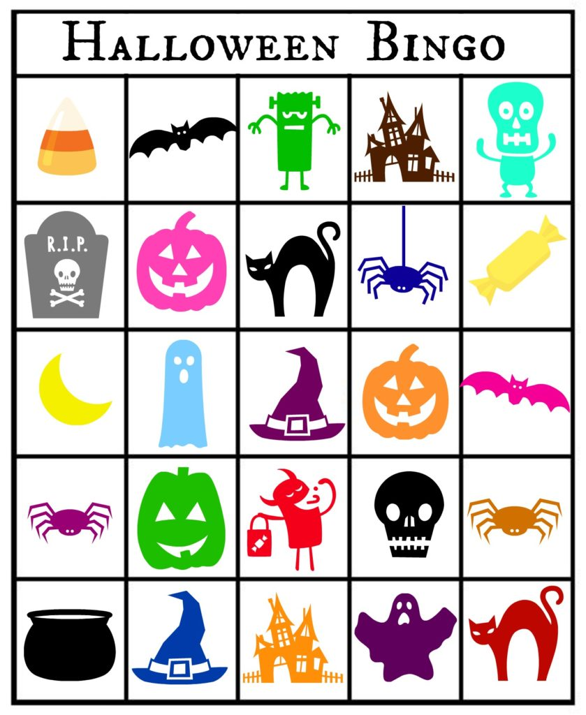 This is an image of Inventive Printable Halloween Bingo Card