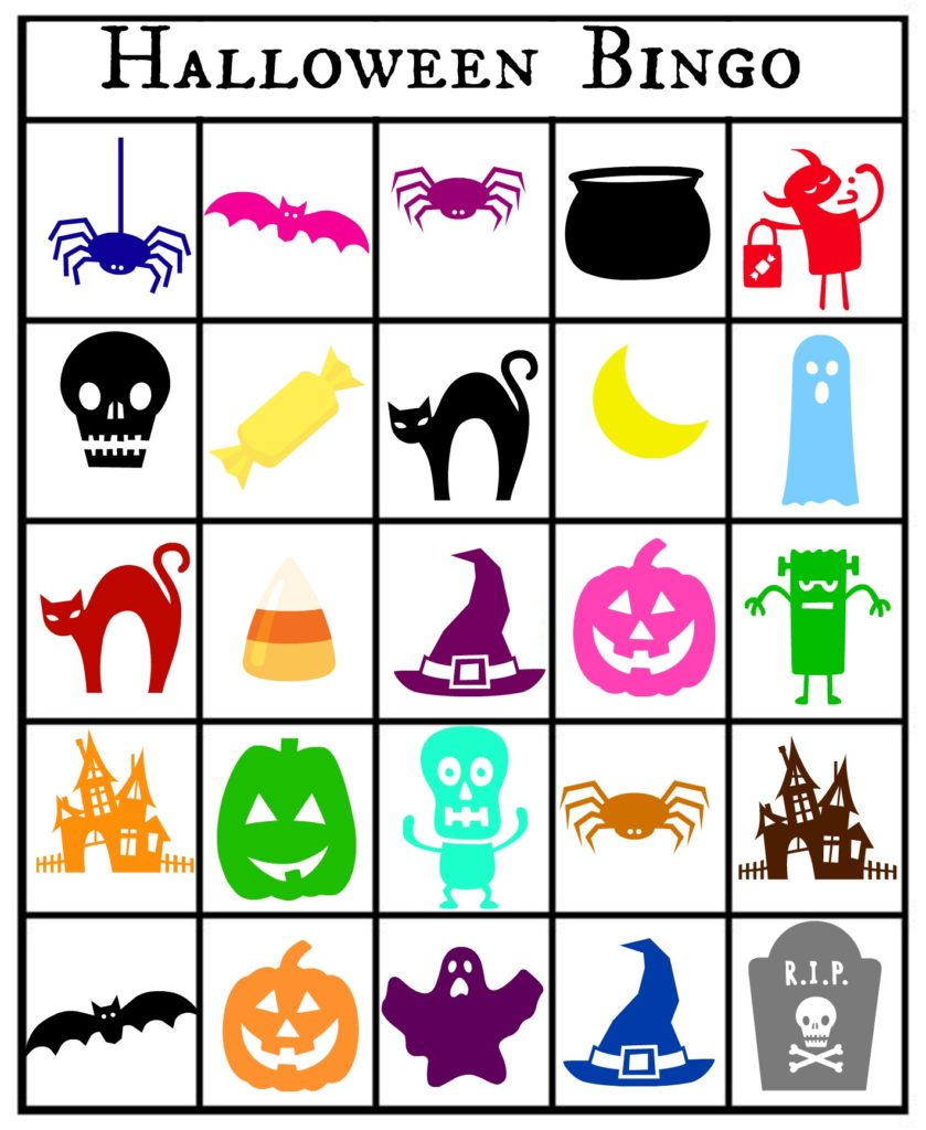 This is a picture of Accomplished 25 Printable Halloween Bingo Cards