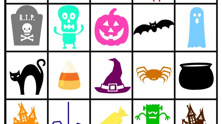 graphic relating to Printable Halloween Cards known as Absolutely free Printable Halloween Themed Bingo Playing cards