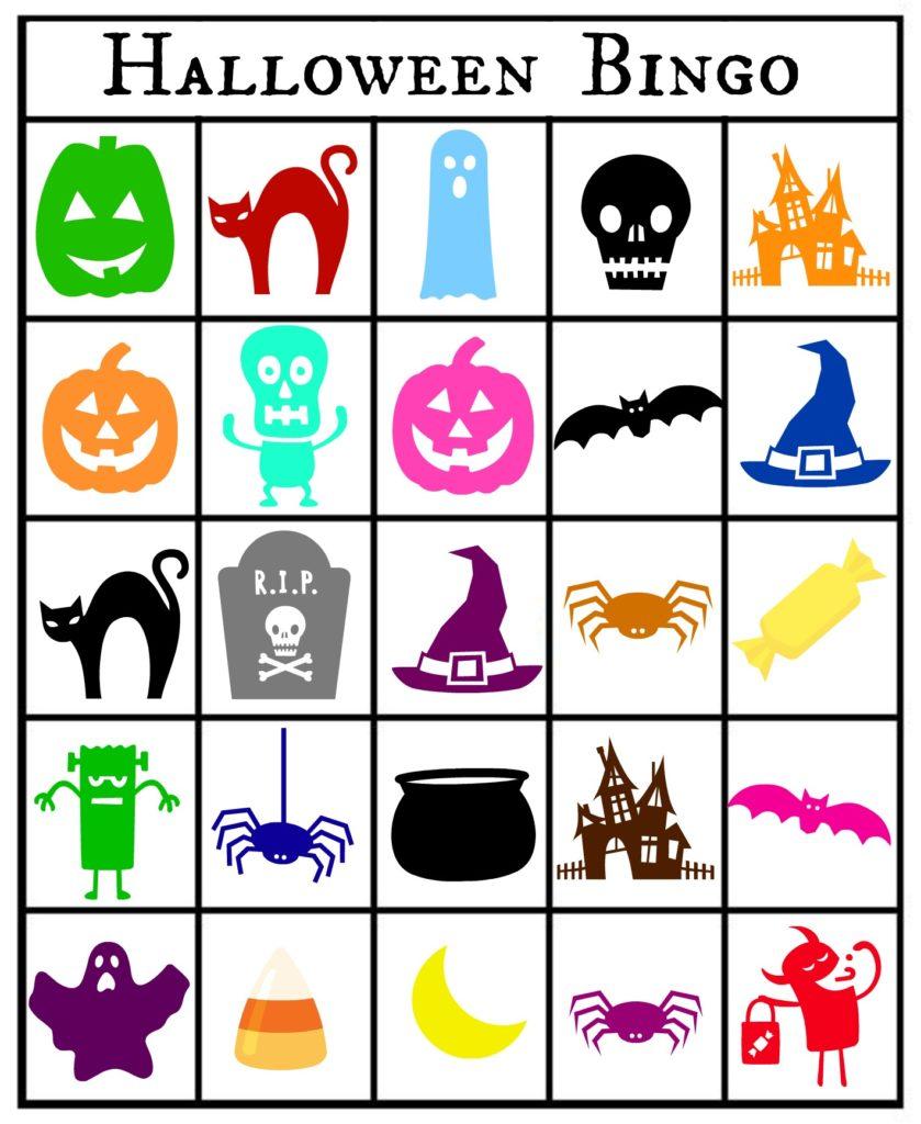 It is a photo of Juicy Printable Halloween Bingo Card