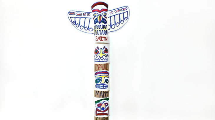 Totem Pole Template | Family Totem Pole Craft