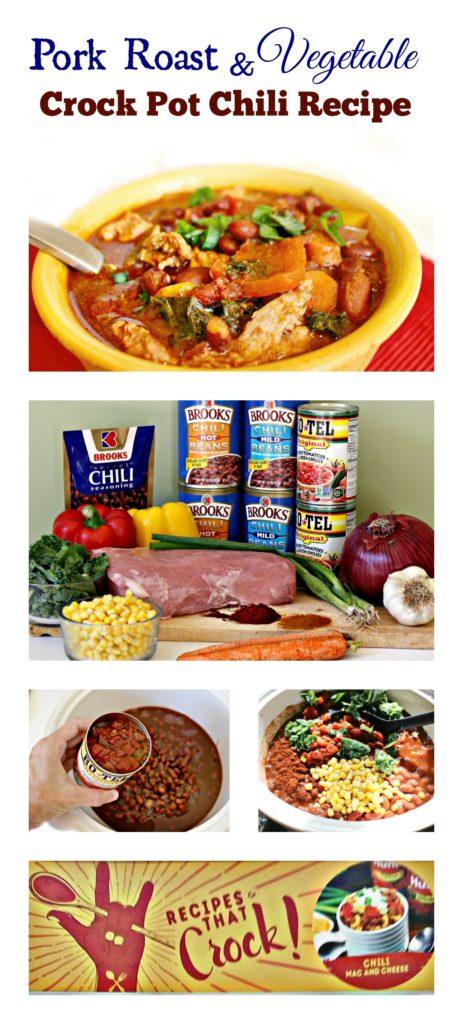 Pork Roast Vegetable Crock Pot Chili Recipe