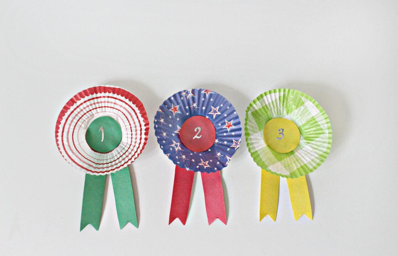 DIY Cupcake Wrapper Award Ribbons for Kids