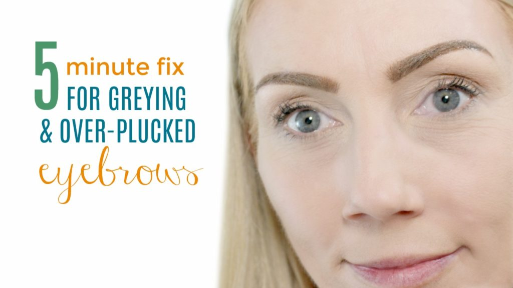 5 Minute Fix For Grerying And Over Plucked Eyebrows Youtube Video