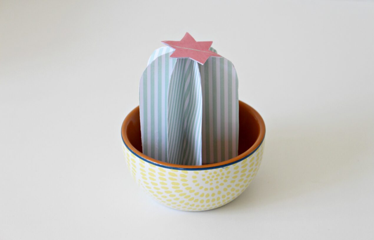 How to Make a Gorgeous Paper Barrel Cactus for Home Decor