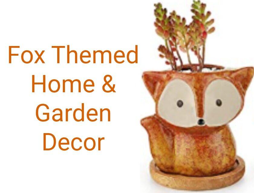 Fox Themed Home & Garden Decor