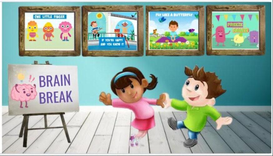 Virtual Classroom Slides for Brain Breaks (Just Add Your Bitmoji) PreK – 3rd Grade