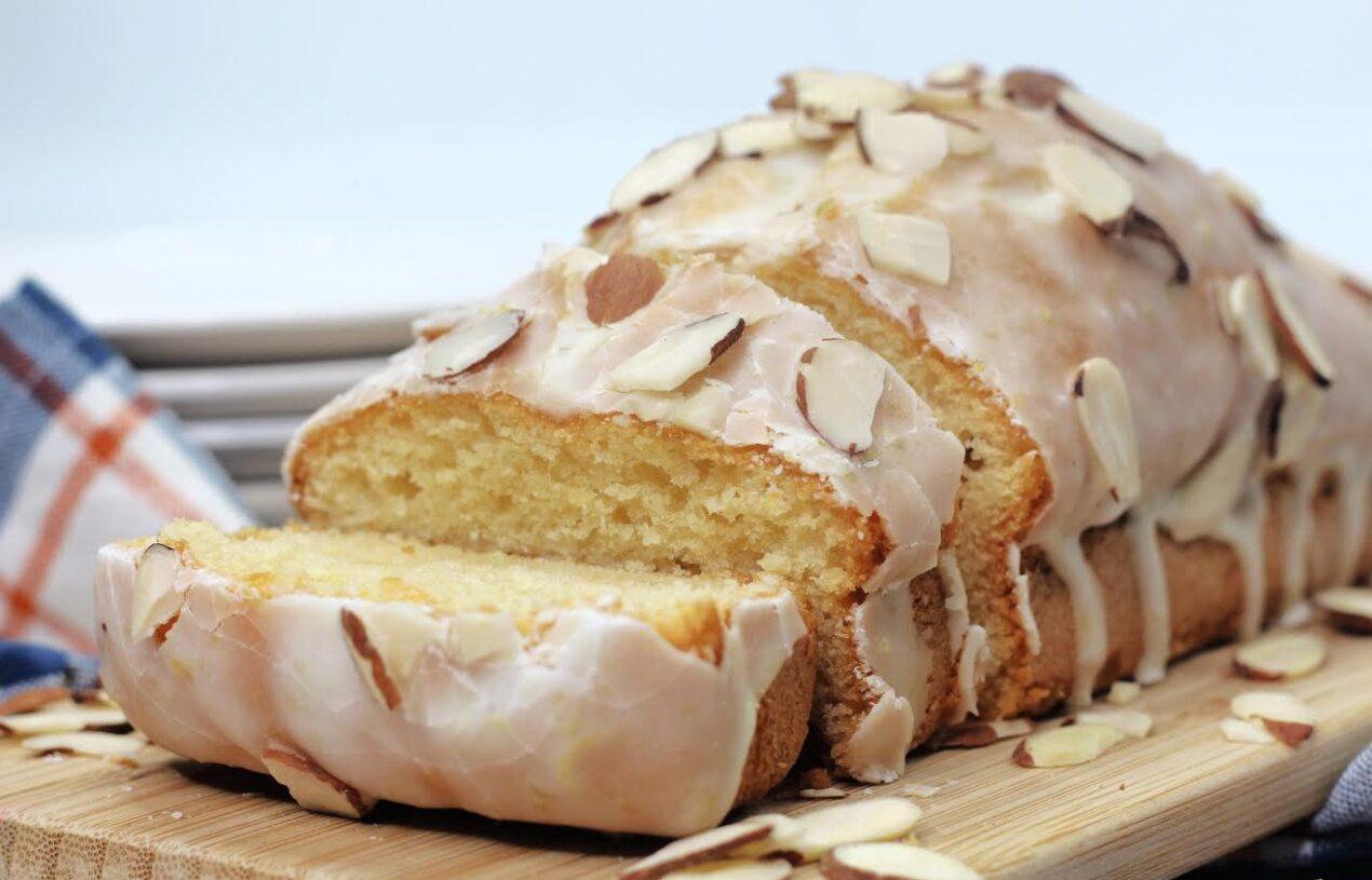 Zesty Citrus Almond Dessert Bread with Sweet Almond Glaze