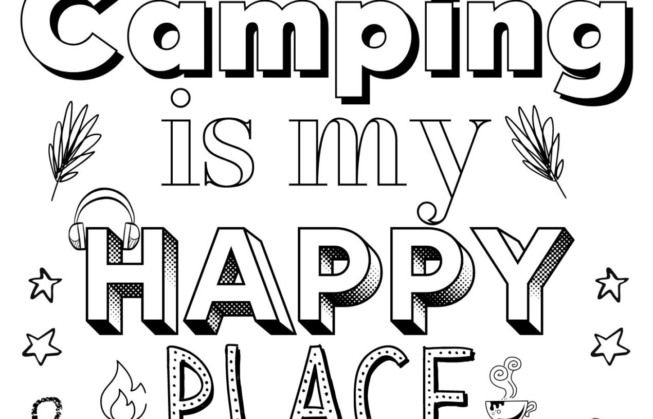 4 Free Printable Camping Coloring Pages for All Ages