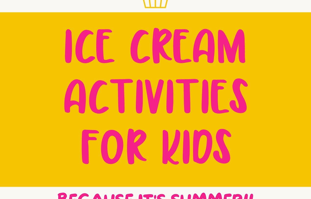 Free Printable Ice Cream Themed Activity Pages for Kids
