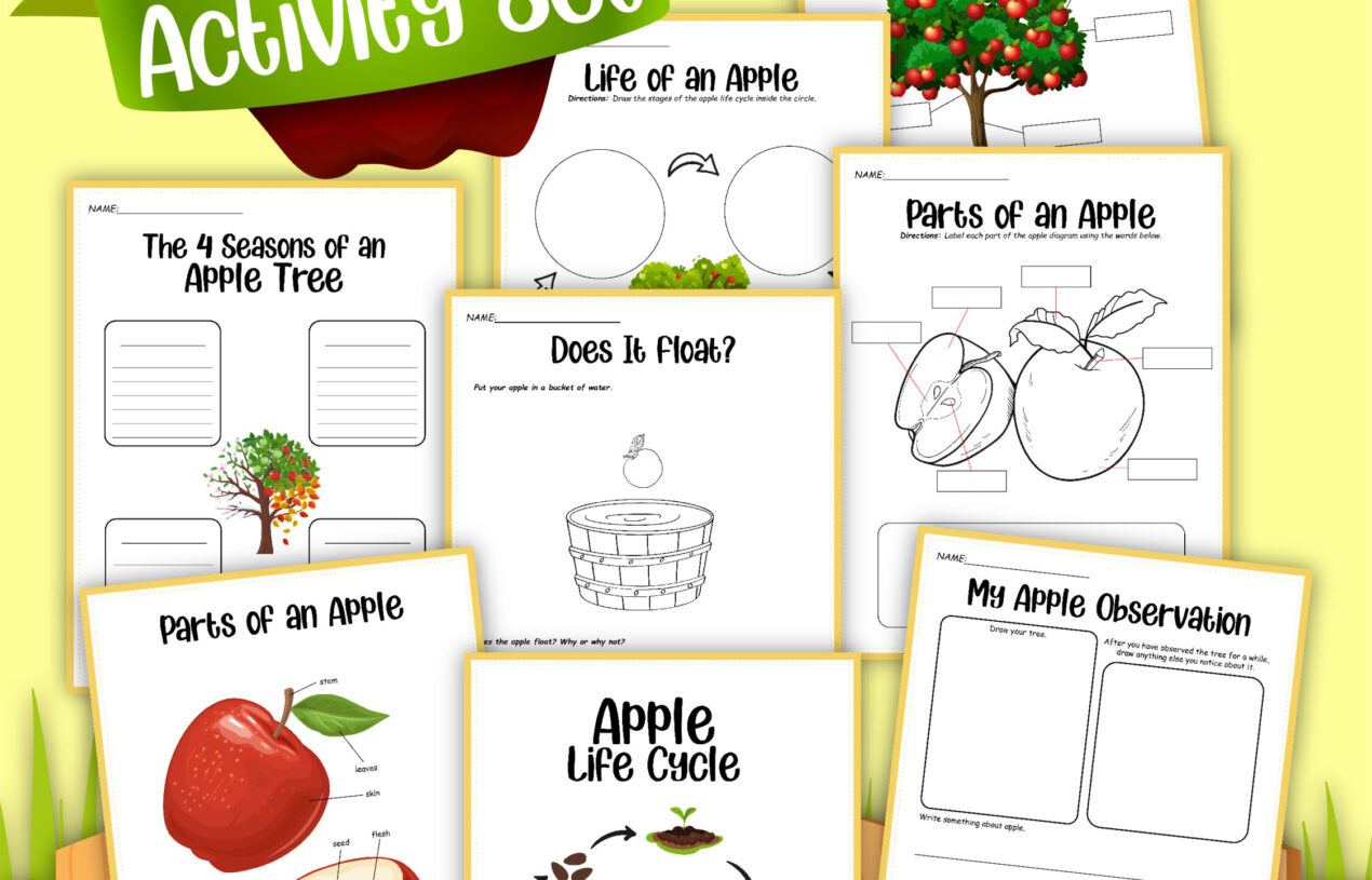 8 Page Apples Learning Activity Pack Free Printables