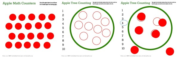 Apple Tree Math Counters FREE Printables Worksheets - jenny at dapperhouse